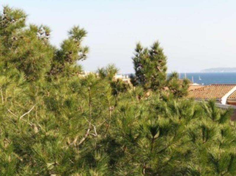 Location Beau toit terrasse traversant avec petite vue mer à 100m de la mer.