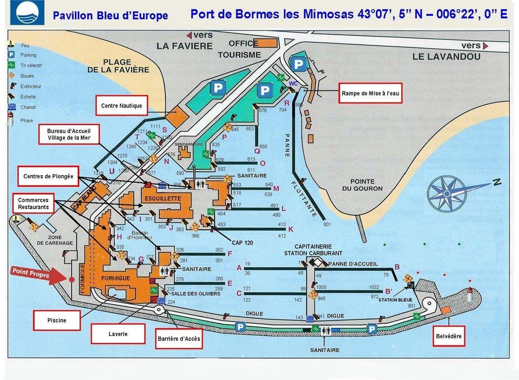 PORT DE BORMES Studio Cabine BORMES LES MIMOSAS