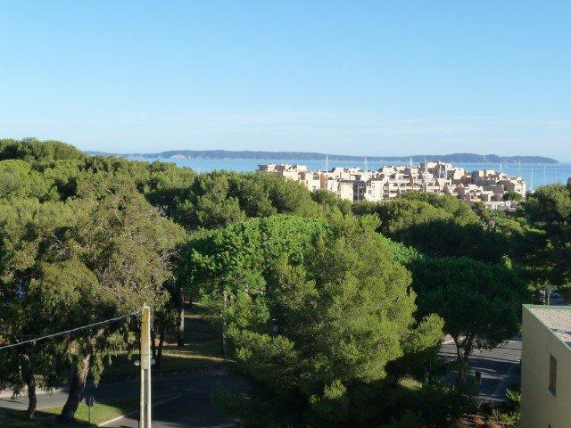 Location T2 climatisé résidence Brise Marine, vue mer, La Favière.